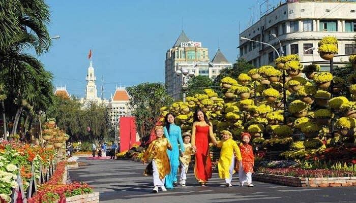 Beautiful Street Nha Trang Vietnam
