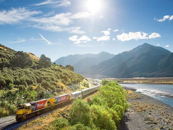 TranzAlpine train from Christchurch to Greymouth