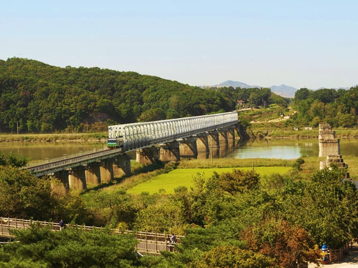 Freedom Bridge links North and South Korea