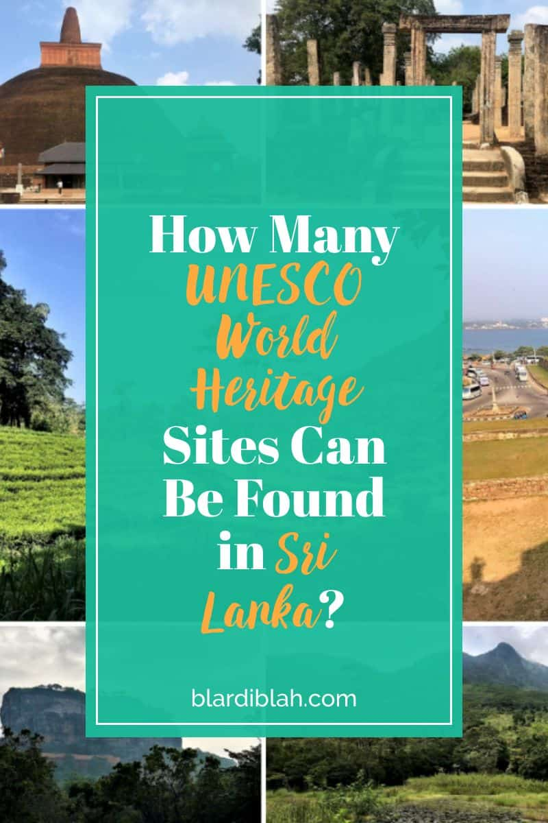 How Many UNESCO World Heritage Sites Can Be Found in Sri Lanka