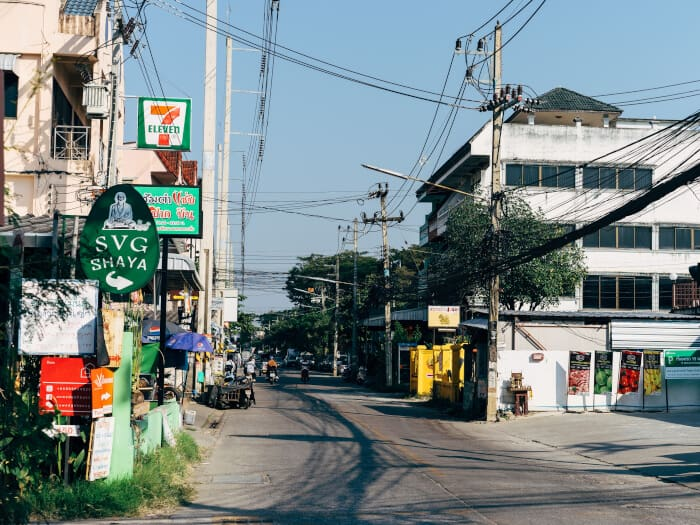 Street view of Chiang Mai