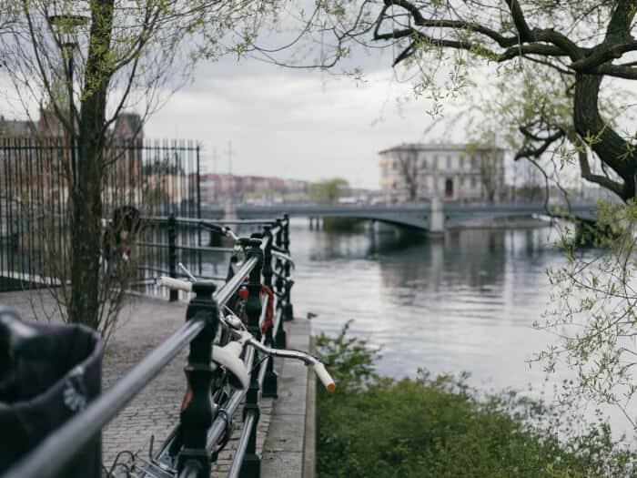 Bridge in Stockholm viewed in a terrace
