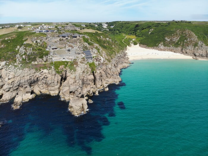 Clear waters of Cornwall England