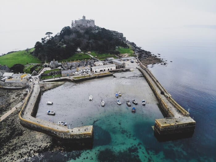 Top view of Cornwall England